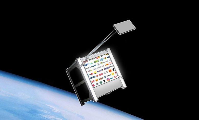 یک بیلبورد تبلیغاتی با همکاری اسپیسایکس در فضا قرار میگیرد